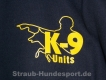 K9 Pullover mit Zipp und Kapuze schwarz Grösse: L