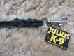 K9 Lederleine 10mm x 1,2m mit Handschlaufe
