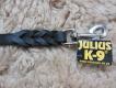 K9 Lederleine 16mm x 1m mit Handschlaufe