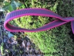 gummierte Sportleine pink 20mm breit 2m mit Handschlaufe