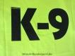 K9 T-Shirt neongelb Grösse: S