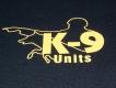K9 T-Shirt schwarz Grösse: M