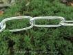Langgliedkette mit 2 Ringen Edelstahl ultraleicht 47cm