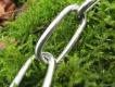 Langgliedkette mit 2 Ringen Edelstahl 55cm