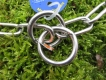 Langgliedkette mit 2 Ringen Edelstahl 61cm