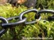 Halskette medium 2 Ringe (Edelstahl brüniert) L=54cm