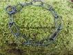Langgliedkette mit 2 Ringen 4mm (Edelstahl brüniert) L=54cm