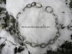 Halskette medium 4mm 2 Ringe (Edelstahl matt) L=59cm