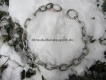 Halskette medium 4mm 2 Ringe (Edelstahl matt) L=69cm