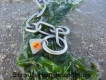 Halskette medium 2 Ringe (Edelstahl matt) L=50cm
