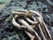 Halskette medium 2 Ringe (Messing) L=55cm
