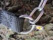 Halskette medium mit ClicLock und Zug (Edelstahl) L=42cm