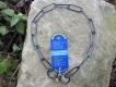 Langgliedkette mit 2 Ringen (Edelstahl brüniert) 50cm