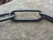 Langgliedkette mit 2 Ringen (Edelstahl brüniert) 58cm