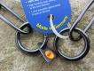 Langgliedkette mit 2 Ringen (Edelstahl brüniert) 62cm