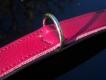 Halsband Basic Nickel brombeer/schwarz L= 42cm