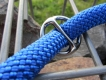 Retrieverleine Freestyle mit Stopring blau