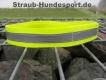 Warnhalsung mit Klettverschluss 45cm neongelb