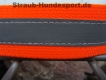 Warnhalsung mit Klettverschluss 40cm neonorange